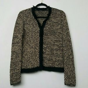J McLaughlin Tweed Knit Jacket Size M